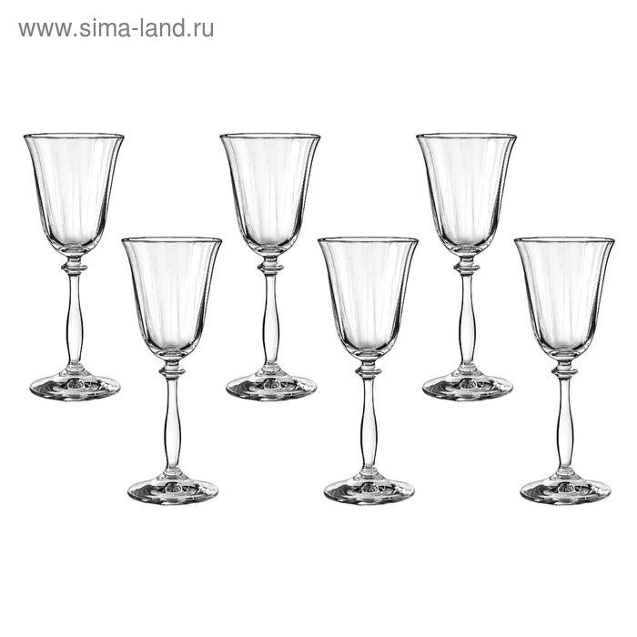 """Набор бокалов для вина 185 мл """"Анжела. Грани"""", 6 шт"""