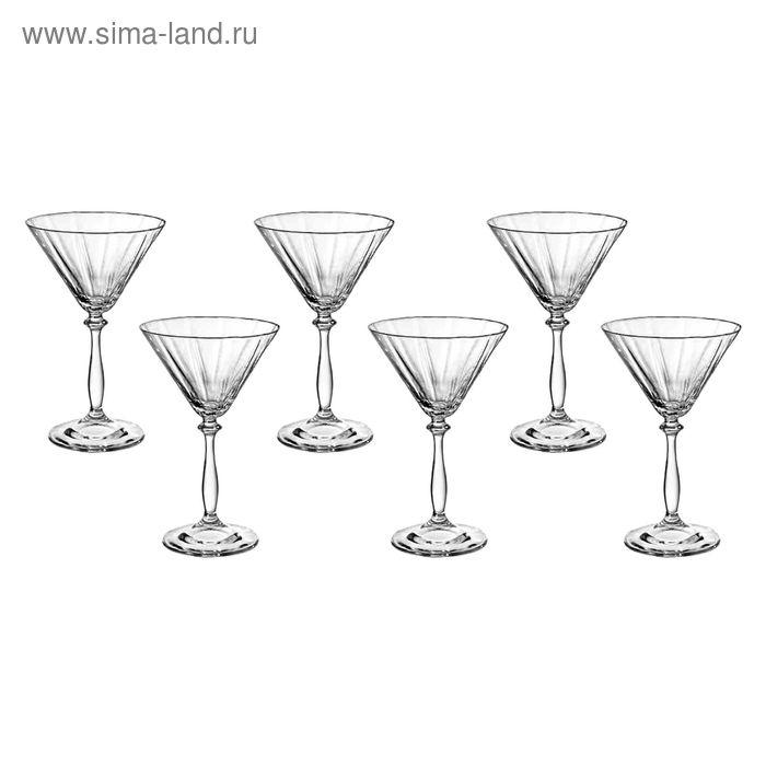 "Набор бокалов для мартини 285 мл 6 шт ""Анжела"", грани"