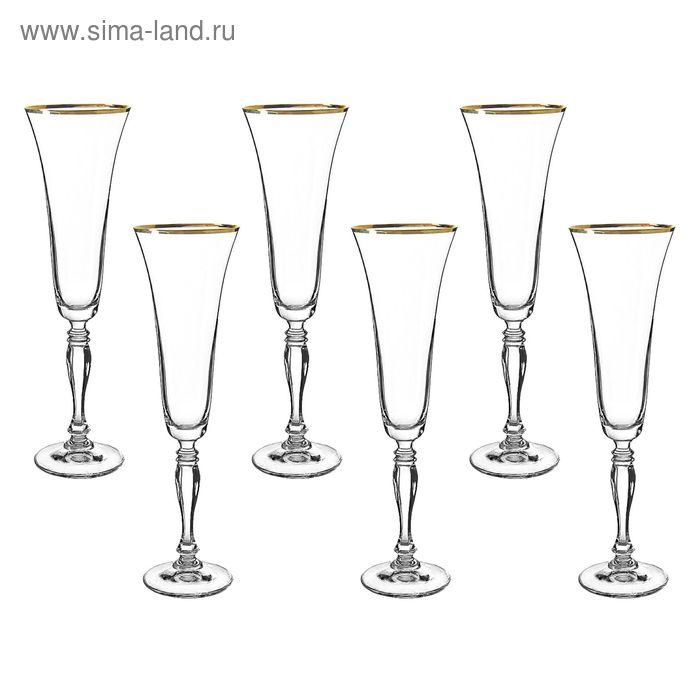 """Набор бокалов для шампанского 180 мл 6 шт """"Виктория"""""""