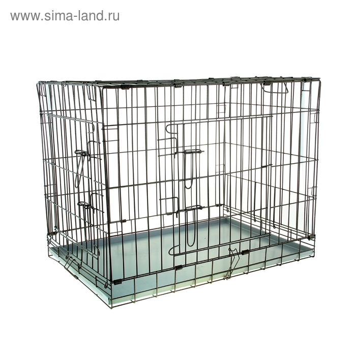 Клетка для собак и кошек № 5, 91 х 61 х 71 см, черная
