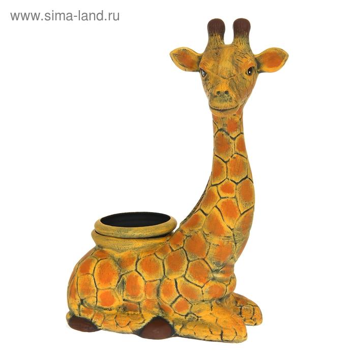 """Фигурное кашпо """"Жираф"""" рисунок, 2,5 л"""