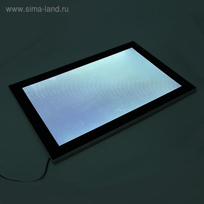 Световая панель (Лайт бокс), рамка широкая, стекло 40*60