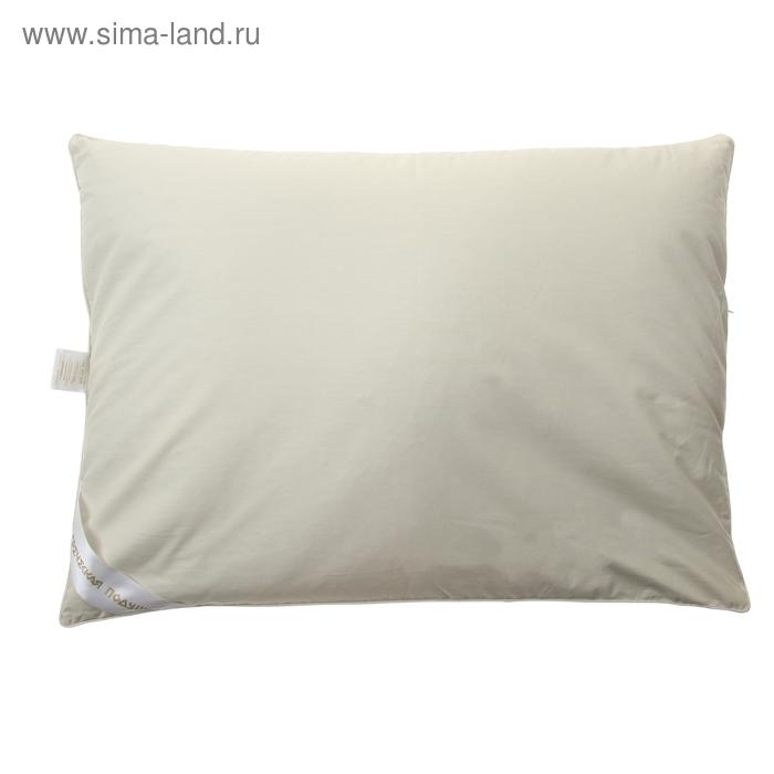 """Подушка """"Греческая"""" с цветами лаванды, размер 50х70 см, лузга гречихи, тик"""