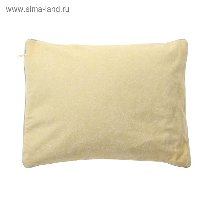 Подушка МЕДЕЛЛА, 30*40 см, лузга проса, наперник сатин, чехол фланель