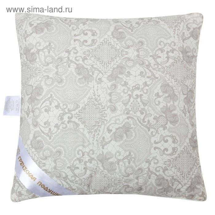 """Подушка """"Греческая"""" с волокном бамбука, размер 40х40 см, лузга гречихи, тик"""