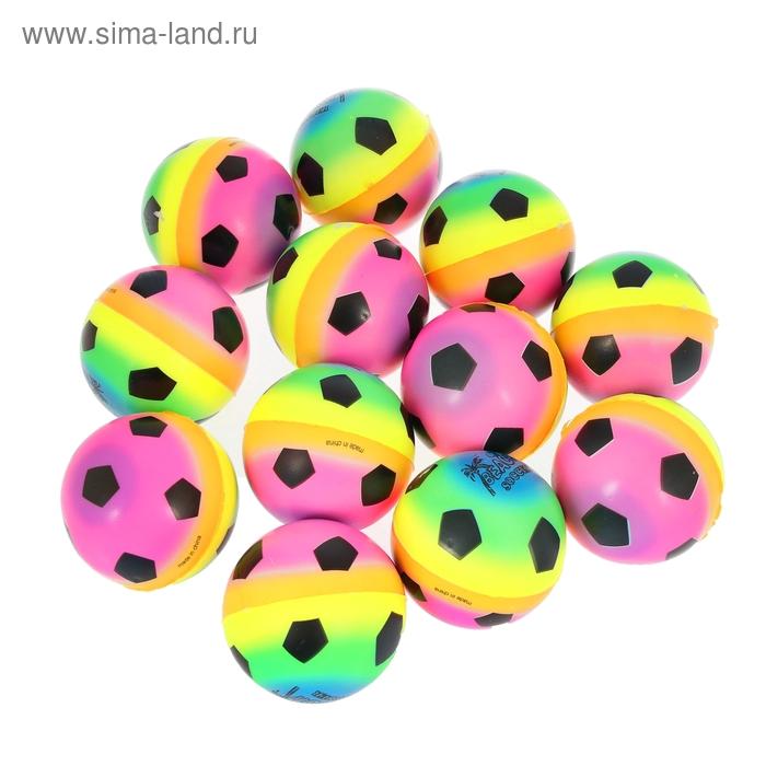 """Мягкий мяч """"Футбол"""", цветной, 7,6 см"""