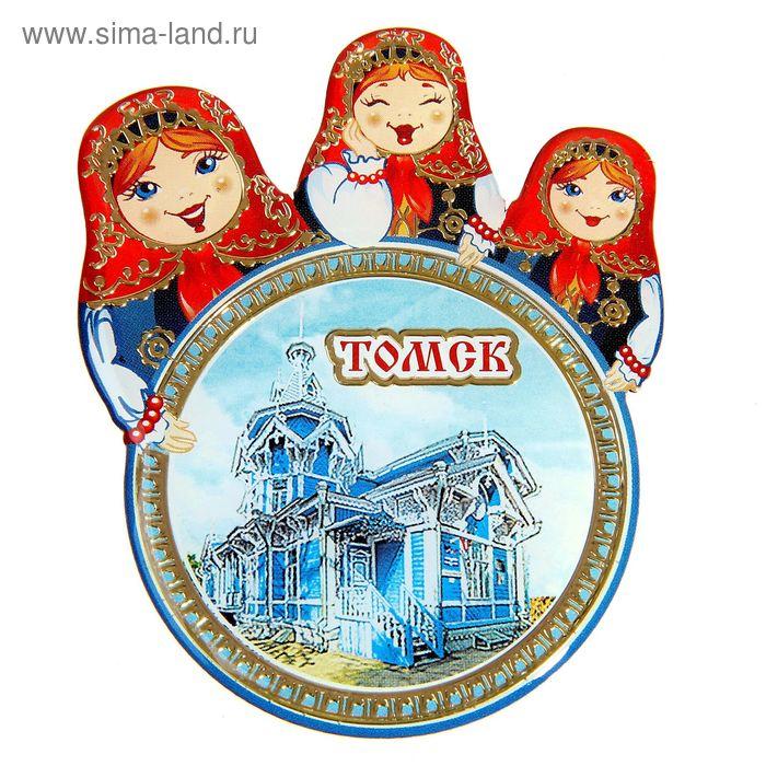 """Магнит с матрёшками """"Томск"""""""