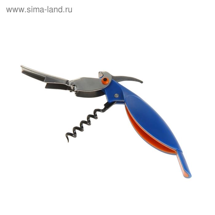 """Штопор и открывалка 2 в 1 """"Попугайчик"""", цвет МИКС"""