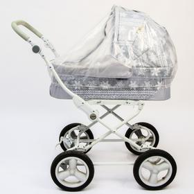 Дождевик на коляску-люльку из прозрачной плёнки