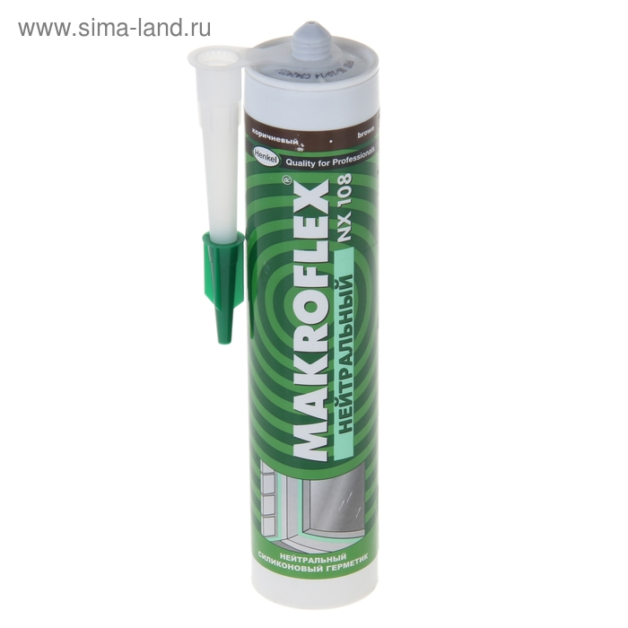 Герметик силиконовый Makroflex NX108, 0,29 л, коричневый