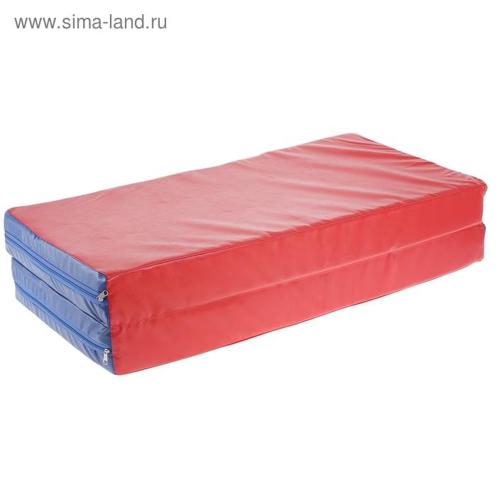 Мат гимнастический складной (1 слож.) 1000х1000х100 мм., цвет микс
