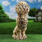 Садовый светильник ''Лев'' шамот