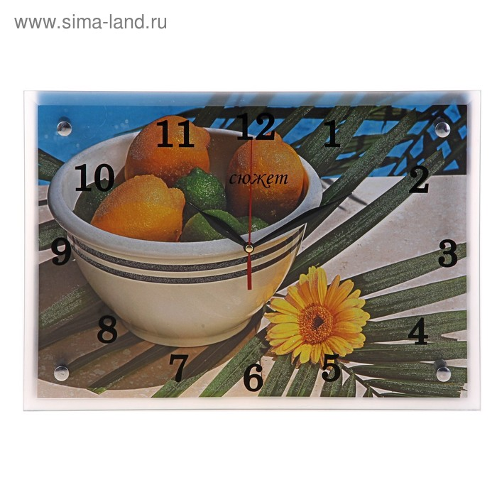 "Часы настенные прямоугольные ""Цитрусы"", 25х35 см"