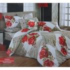 Постельное бельё COTTON LIFE Creton Amore 2сп., размер 200х220 см, 220х240 см, 50х70 см-2 шт., плотность 115 гр/м2, цвет красный