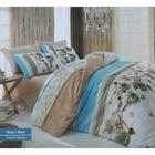 Постельное бельё COTTON LIFE Creton Rosa 2сп., размер 200х220 см, 220х240 см, 50х70 см-2 шт., плотность 115 гр/м, цвет голубой