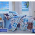 Постельное бельё COTTON LIFE Creton Patchwork 2сп., размер 200х220 см, 220х240 см, 70х70 см-2 шт., плотность 115 гр/м2, цвет голубой
