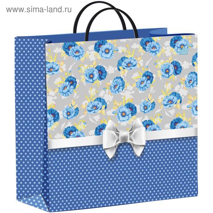 "Пакет ""Синий горошек"", мягкий пластик, 30х30, 140 мкм"