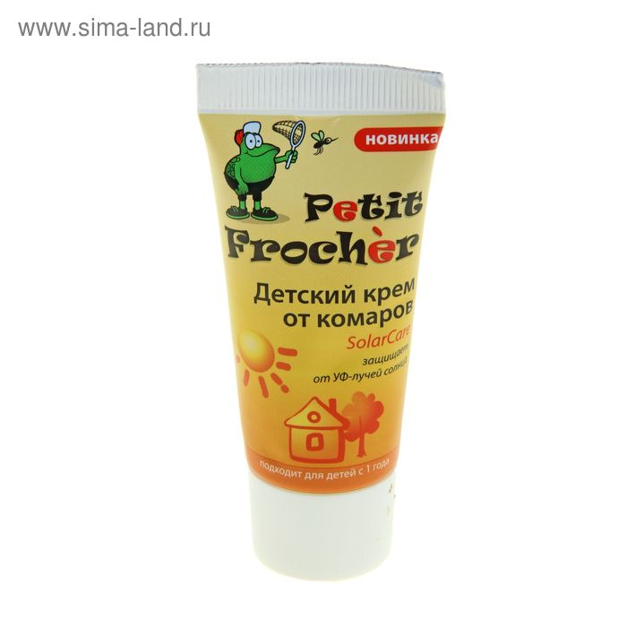Крем детский от комаров Petit Frocher солнцезащитный, 30мл