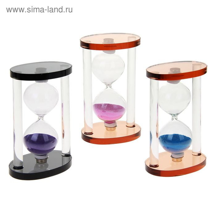 """Часы песочные """"Овал. Тонировка"""", цвета МИКС"""