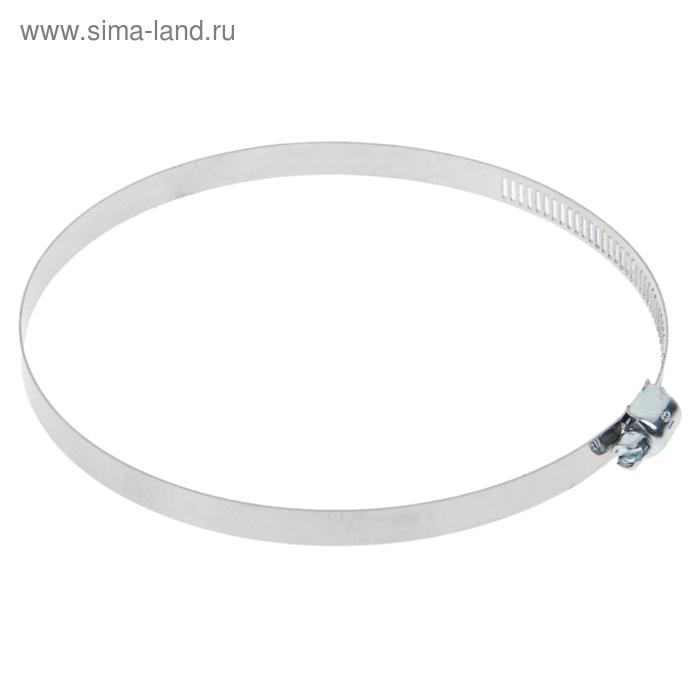 Хомут оцинкованный TUNDRA krep, сквозная просечка, ширина 12.7 мм, диаметр 91-114 мм