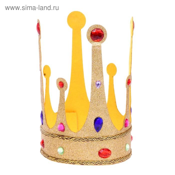 Корона на липучке с камушками