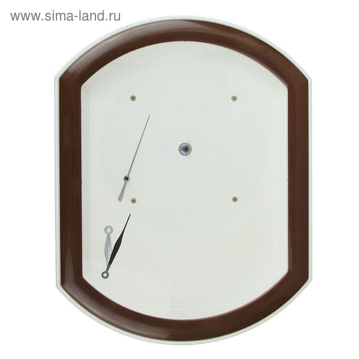 Часы-конструктор под нанесение, прямоугольные, коричневые