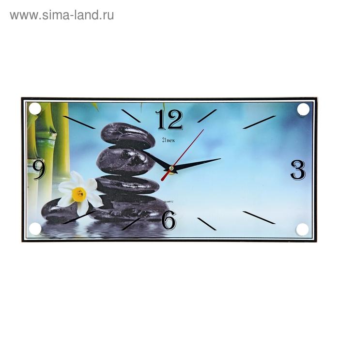 """Часы настенные прямоугольные """"Камни"""", 19х39 см"""