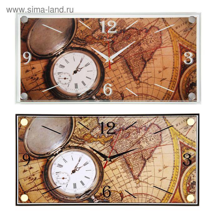 """Часы настенные прямоугольные """"Часы"""", 19х39 см"""