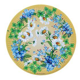 Тарелка с ламинацией 'Полевые цветы', 23 см Ош