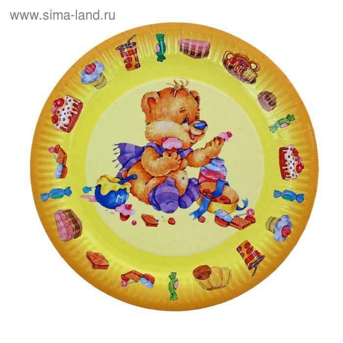"""Тарелка с ламинацией """"Мишка"""", 23 см"""