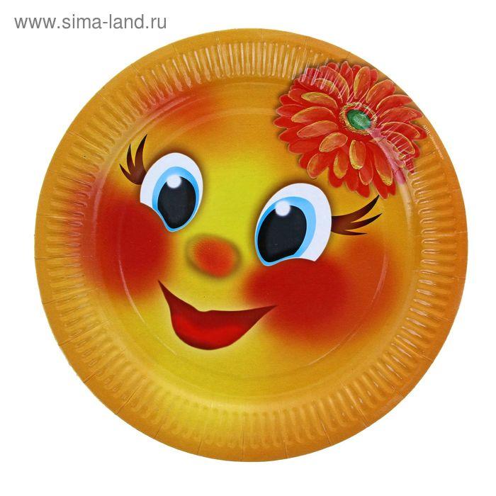 "Тарелка с ламинацией ""Колобок"", 23 см"