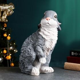 """Садовая фигура """"Заяц"""" большая, серо-коричневая"""