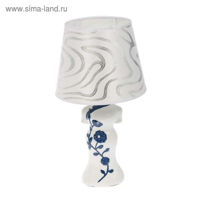 """Лампа настольная """"Кимоно с синими цветами"""""""