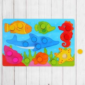 Рамка - вкладыш 'Подбери цвета. Подводное царство', 15 элементов Ош