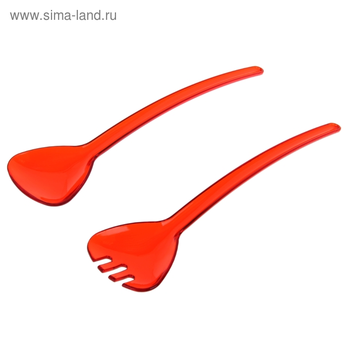 """Набор ложек для салата 2 шт """"Леденец"""", цвета МИКС"""