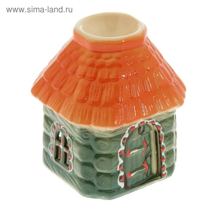 """Аромалампа """"Домик"""" оранжевая крыша"""