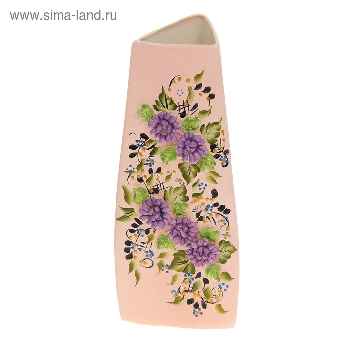 "Ваза ""Анна"" средняя, цветы, лепка, микс"