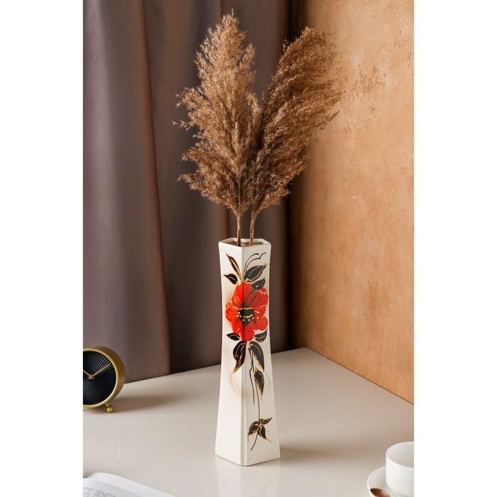 """Ваза """"Консул"""" цветы, глазурь, художественная роспись"""