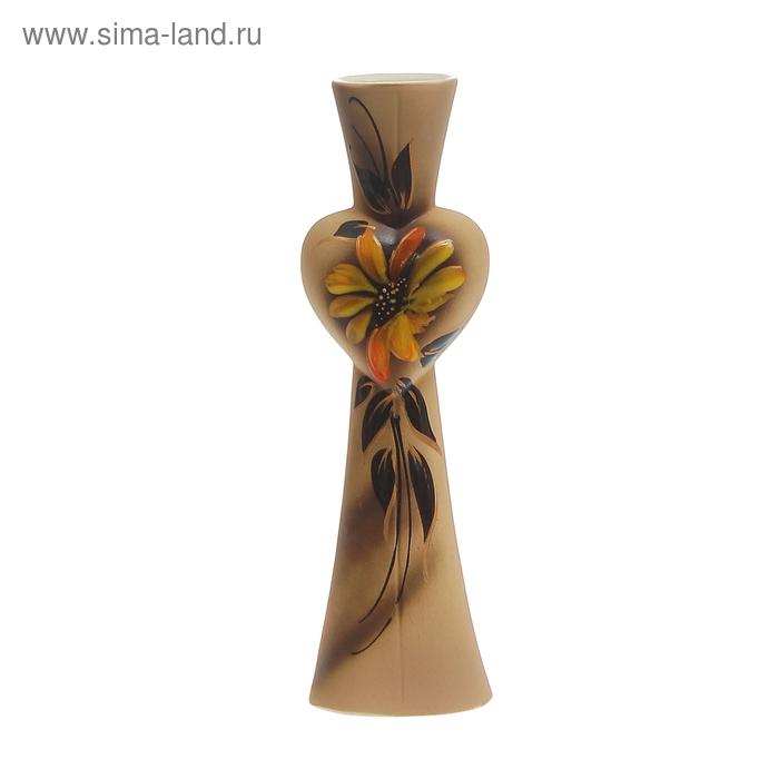 """Ваза """"Анжелика"""" цветы, глазурь, художественная роспись"""