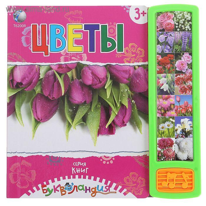 """Книга для детей обучающая """"Цветы"""", звуковые эффекты, работает от батареек, МИКС, 14 стр."""
