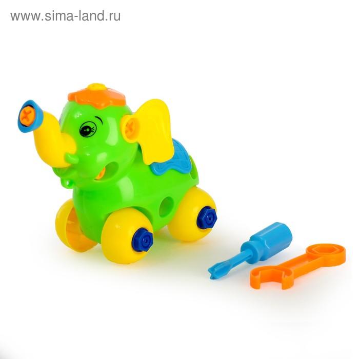 """Конструктор для малышей """"Слонёнок"""", 28 деталей, цвета МИКС"""