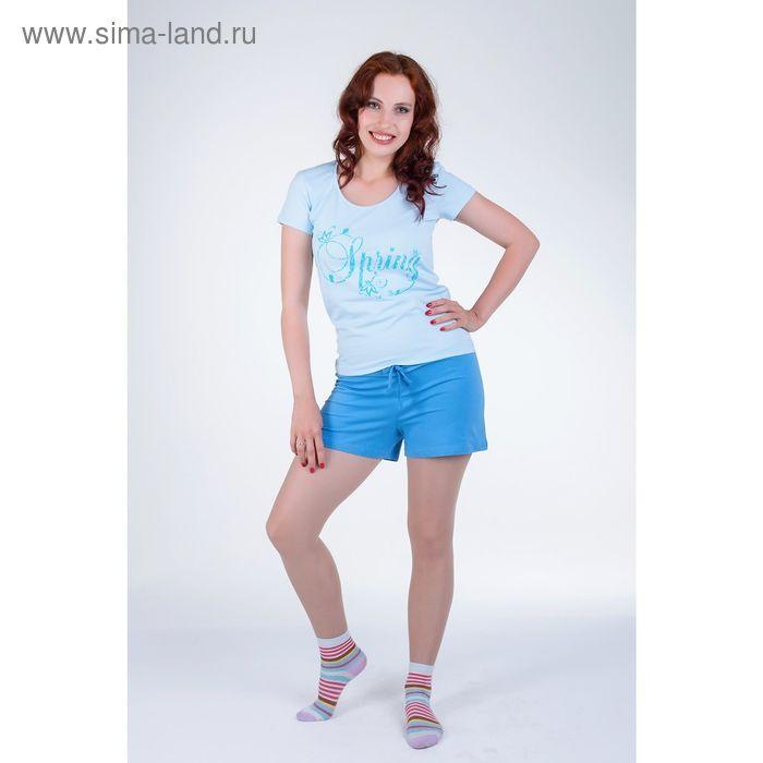 Комплект женский (футболка, шорты) 14С37 П72  р-р 46 МИКС