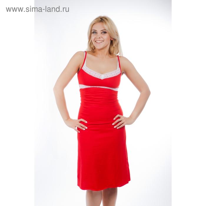 Сорочка женская 13С186 красный р-р 48