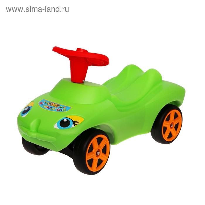 """Каталка """"Мой любимый автомобиль"""" зелёная, со звуковым сигналом 44617"""
