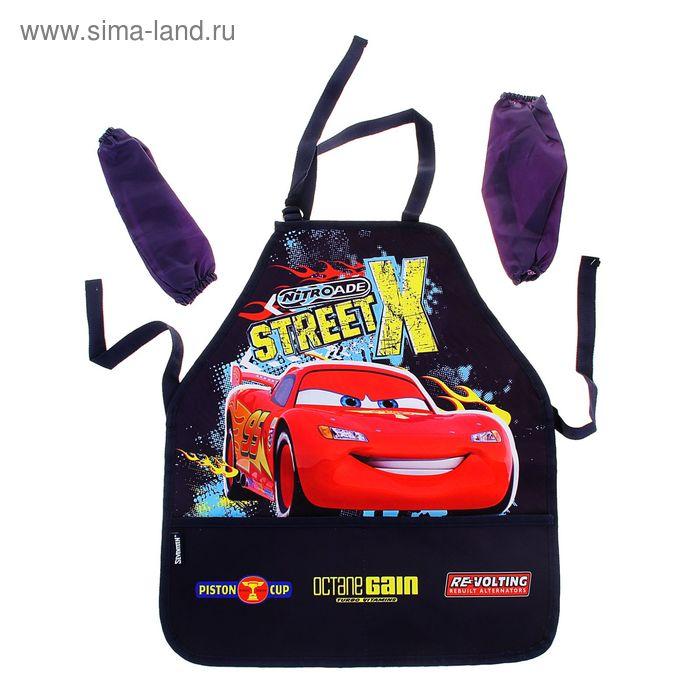 Фартук для труда + нарукавники для девочки Disney Cars 510*440