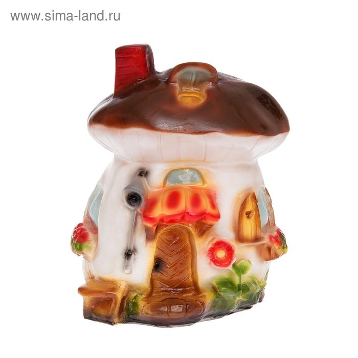 """Садовая фигура """"Белый гриб-дом"""""""