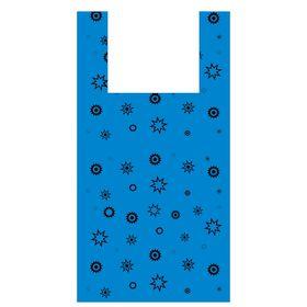 """Пакет """"Звезда синяя"""", полиэтиленовый майка, 32х60, 17 мкм"""
