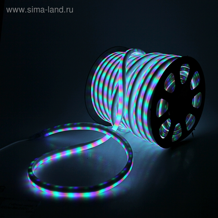 Гибкий неон, 12*24мм, 50 м, LED/м-80-220V, 7 цветов, МУЛЬТИ