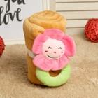 """Набор подарочный для новорождённых """"Этелька"""" 2 пр Цветочек-погремушка, размер 75х100 см"""