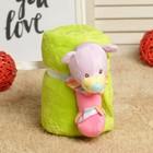 """Набор подарочный для новорождённых """"Этелька"""" 2 пр Медвежонок-погремушка, размер 75х100 см, цвет МИКС"""